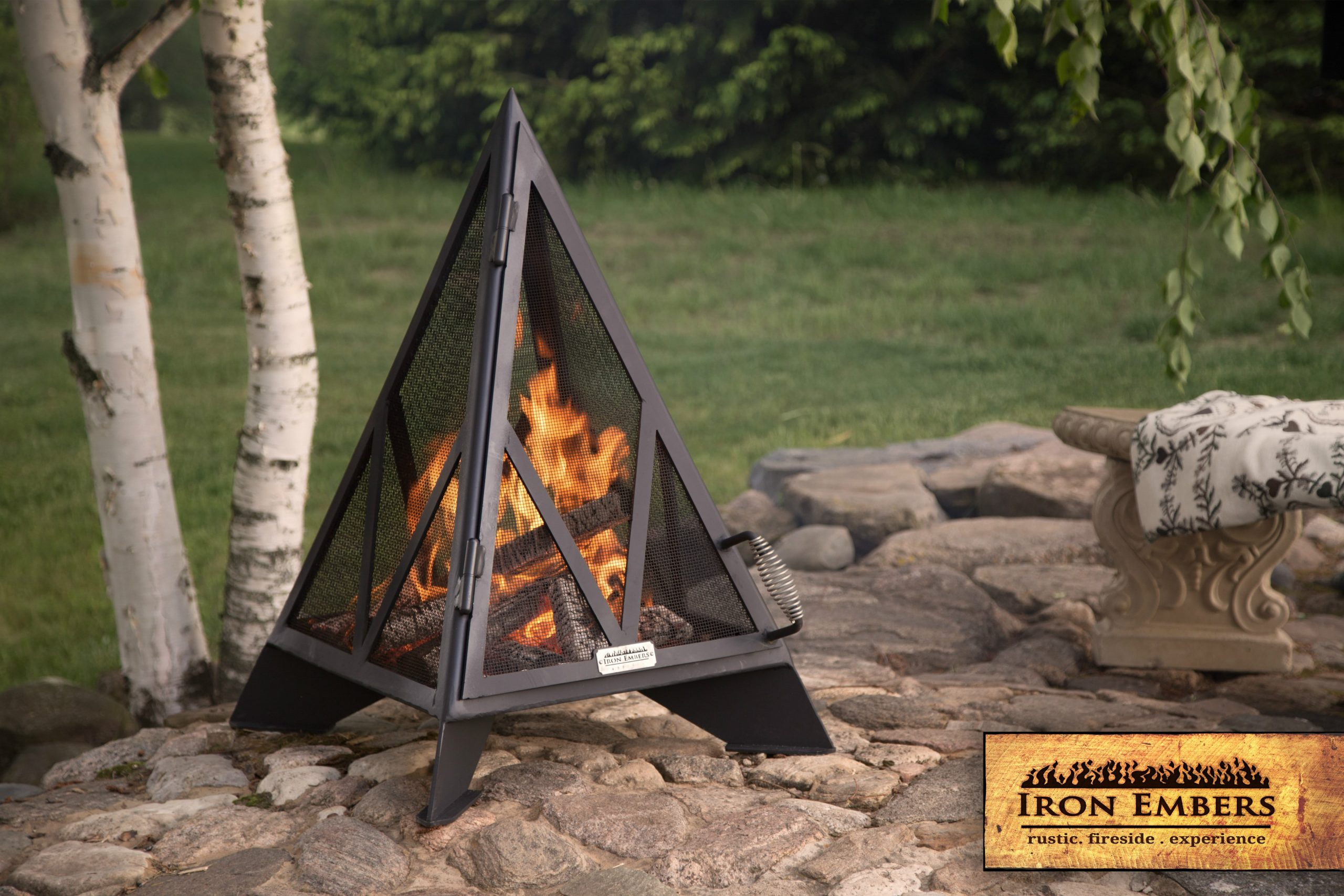 3′ Pyramid Outdoor Fireplace Copy