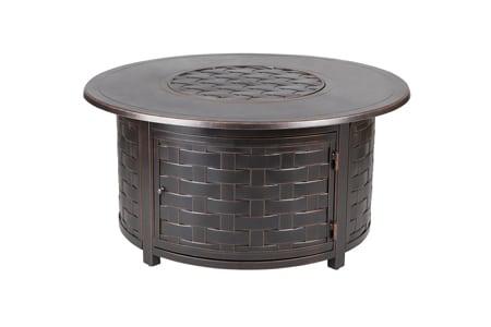 Paramount Zach Convertible Aluminum Convertible Fire Table, Round