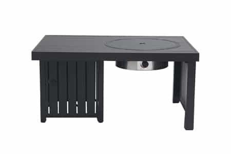 Paramount Offset Aluminum Fire Table, Rectangle