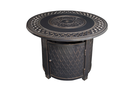 Paramount Ben Aluminum Fire Table, Round