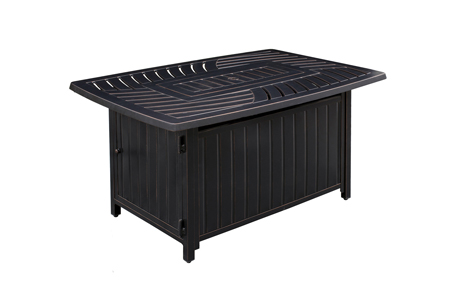 Paramount Dylan Aluminum Fire Table, Rectangle